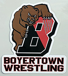 NEW Boyertown Wrestling car magnet
